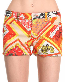 Versace Jeans - Filigree Pattern Denim Short