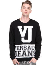 Sweaters - Black/White Vj Logo Sweatshirt