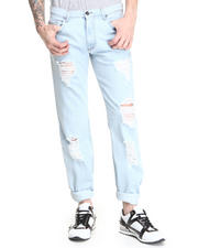 Denim - Straight Leg Rip & Repair Jean