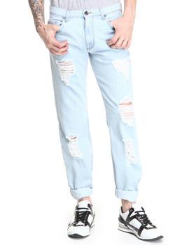 Versace Jeans - Straight Leg Rip & Repair Jean