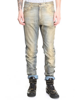 Versace Jeans - Gold Painted Slim Relaxed Jean