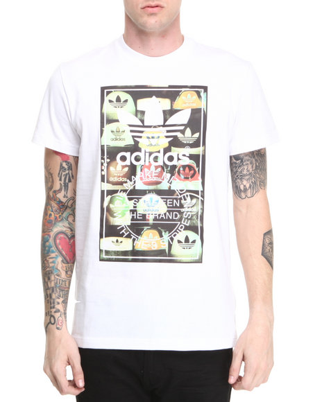 Adidas White Tongue Label Tee