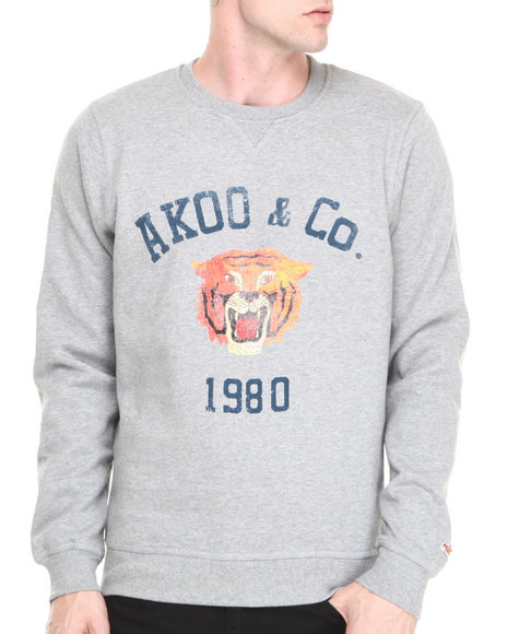 Akoo - Men Grey College Cat Sweatshirt