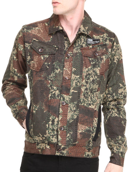 AKOO - Men Camo Hidden Jacket