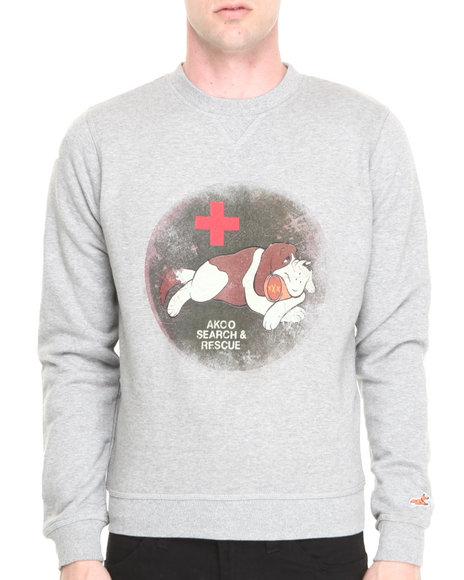 Akoo - Men Grey Tipsy Patrol Sweatshirt