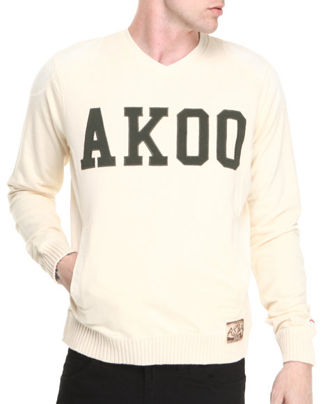 AKOO White Ivy League Sweater
