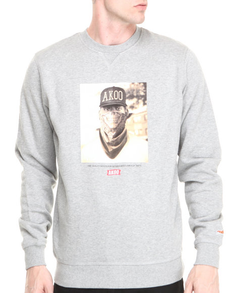 AKOO Grey Stick-Up Kid Sweatshirt