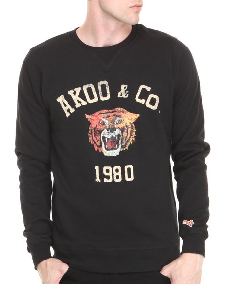 AKOO Black College Cat Sweatshirt