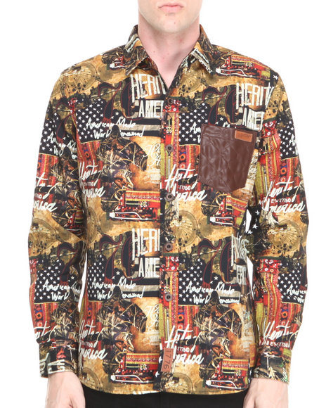 Heritage America - Men Multi Heritage Multi - Print Button-Down