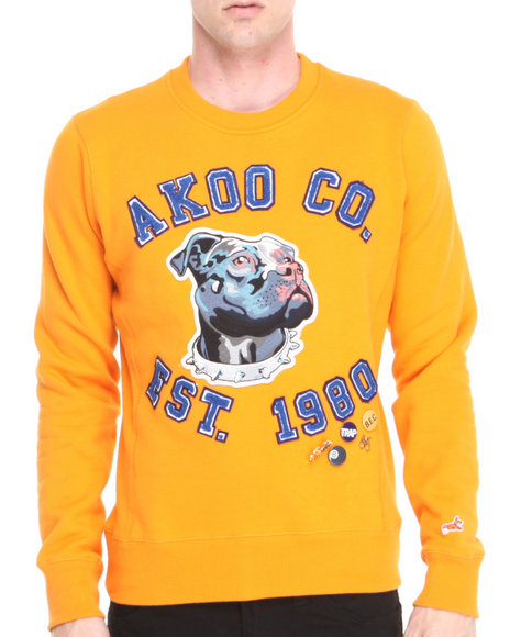 Akoo - Men Orange Massive Sweatshirt - $52.99