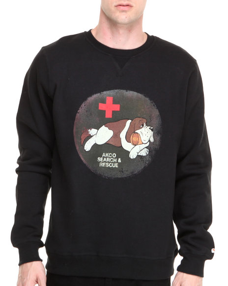 AKOO Black Tipsy Patrol Sweatshirt