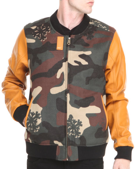 AKOO Camo,Orange Rabid Varsity Jacket