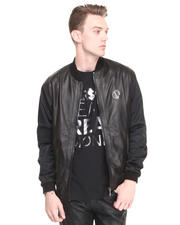 -FEATURES- - Nappa Mixed Leather and Mesh Motorcycle Jacket