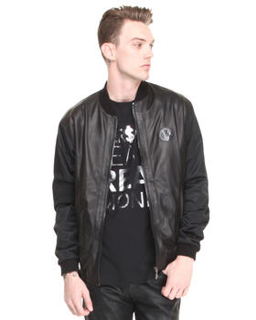 Versace Jeans - Nappa Mixed Leather and Mesh Motorcycle Jacket