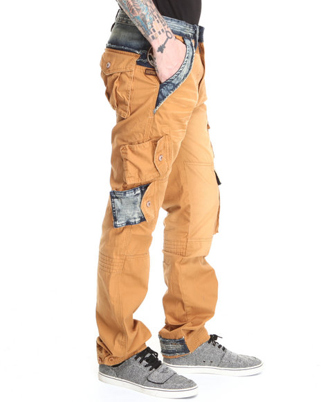 Akoo - Men Khaki Rescue Cargo Pants