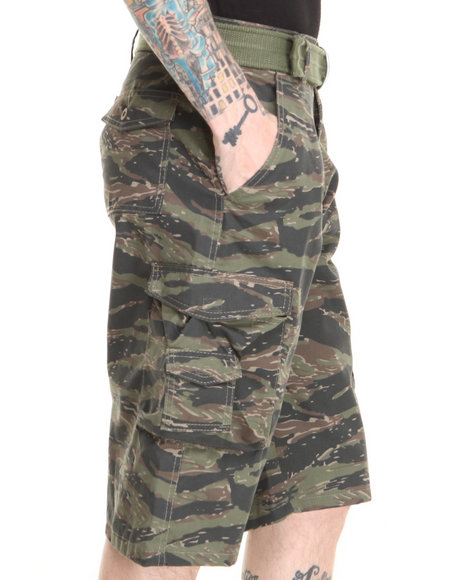 Basic Essentials - Men Camo Tiger Camo Cargo Shorts