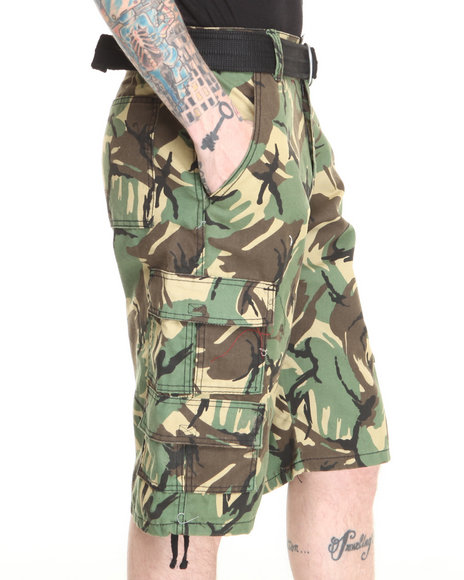 Basic Essentials - Men Camo Avant Camo Cargo Shorts
