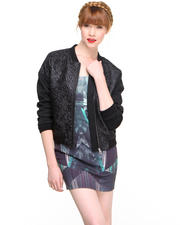 Women - Quilted Bomber Jacket