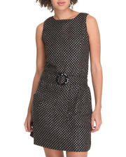 Women - Lurex Sleeveless Belted Dress