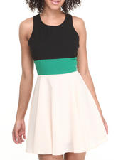 Fashion Lab - Sleeveless Colorblock Skater Dress