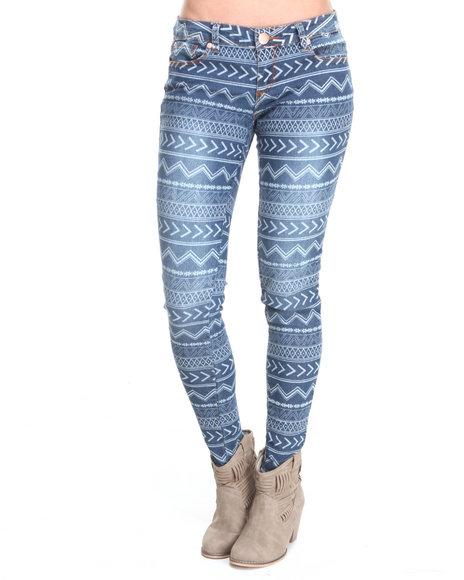 Fashion Lab - Women Multi Soutwestern Printed Skinny Jean
