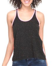 Women - Two-Tone Mesh Back Tank