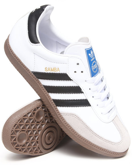 Adidas - Men White Samba Leather Sneakers