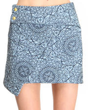 Skirts - Denim Over n Out Skirt w/ Flap detail