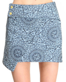 DJP OUTLET - Denim Over n Out Skirt w/ Flap detail