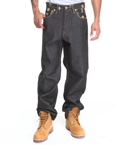 Crown Holder Dark Wash,Gold C H Regius Vestio Denim Jeans