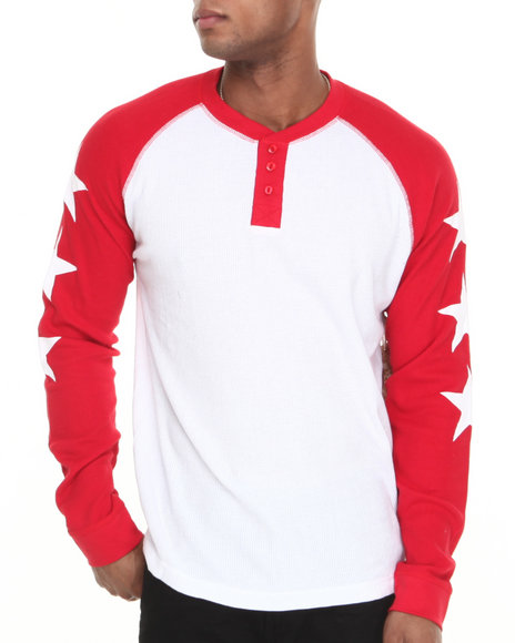 Waimea White Star Raglan Thermal Henley