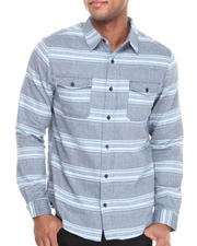 Men - Ocean Herringbone Button-Down