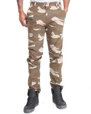 Men - Camo Flat - Front Printed Pants