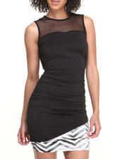 Baby Phat - Chevron Hem Open Back Dress