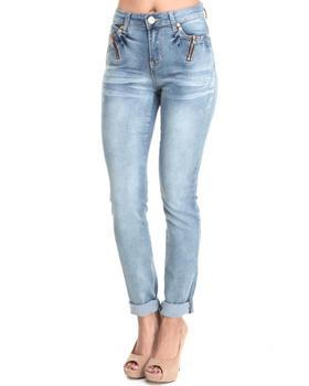 Baby Phat - Zipper Trim Pockets Skinny Jean