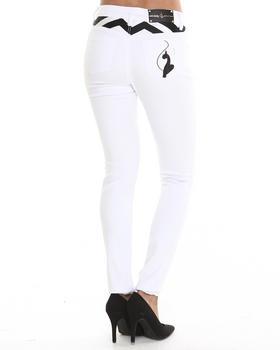 Baby Phat - Chevron Stone Trim Skinny Jean