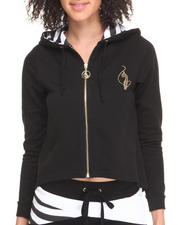 Women - High Low Cropped Hoodie