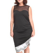 Women - Chevron Hem Open Back Dress (Plus)
