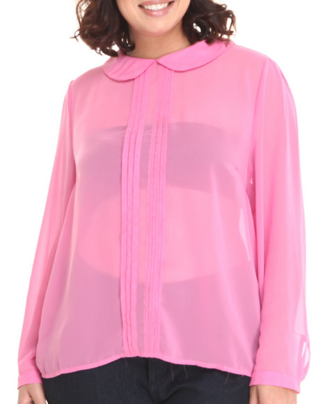 Fashion Lab - Women Pink Wendy Peter Pan Style Collar (Plus)
