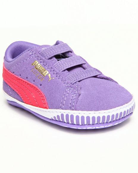 Puma - Girls Purple Suede Crib Bootie (Infant)