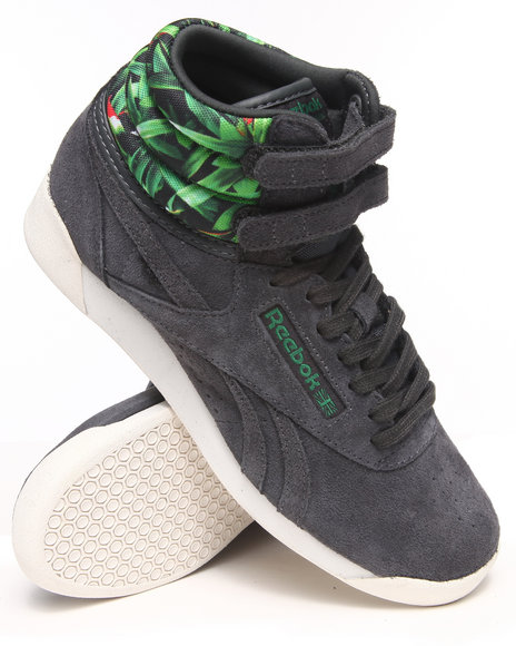 Reebok Charcoal Freestyle Hi Eden Sneakers
