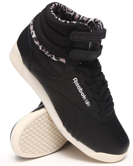 Reebok Black Freestyle Hi Eden Sneakers