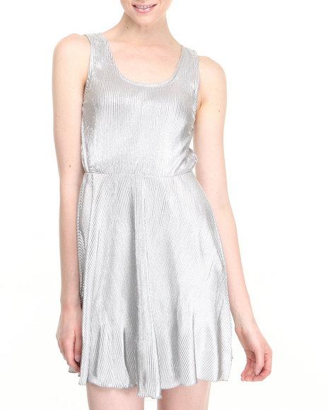 Fashion Lab Silver Blair Metallic Dress