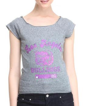 Fashion Lab - LA Bulldogs Knit Athletic Tee