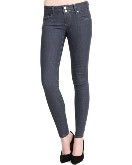 Basic Essentials - Women Grey Marvin Basic Denim Jeans