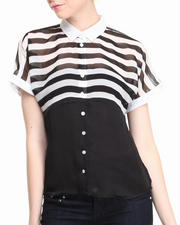 Fashion Lab - Kelly Stripe Chiffon Top