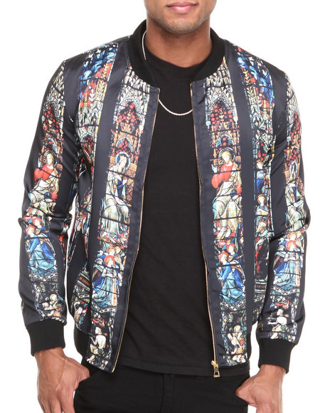 Hudson NYC Black Cathedral Raglan Sleeve Satin Jacket