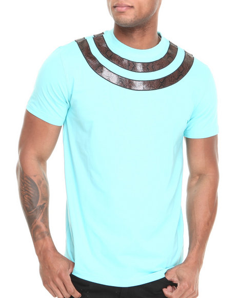 Hudson NYC Light Blue Snake Tight S/S Tee