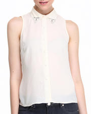 Women - City Slicker Sleeveless Top w/Stone Detail