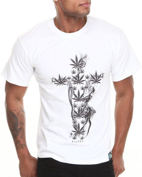 Filthy Dripped - Men White Cross Buds T-Shirt